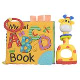 Mordedor para Bebê Livro de Banho e Chocalho Girafa - Bbr toys
