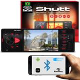 MP3 MP4 MP5 Player Automotivo Shutt Los Angeles 1 Din 4 Pol HD Bluetooth USB FM