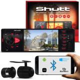 MP3 MP4 MP5 Player Shutt Los Angeles BT 4 Polegadas + Câmera de Ré Colorida 2 em 1 Preta