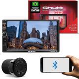 MP3 MP5 Autmotivo Shutt Chicago TV 2 Din 7 Polegadas USB Bluetooth + Câmera Ré Visão Noturna 8 LEDs