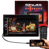 "MP3 MP5 Player Automotivo Shutt Las Vegas 2 Din 6.5"" Bluetooth Usb Espelhamento Hdmi Android IOS"