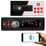 MP3 Player Automotivo Shutt Montana 1 Din 3.5 Polegadas Bluetooth USB SD Auxiliar P2 Rádio FM