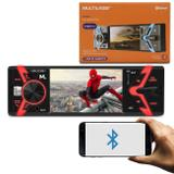 """MP5 Player Automotivo Multilaser Groove P3341 1 Din LCD 4"""" Bluetooth USB SD FM MP3 MP4 App Android"""