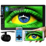 Multimídia Mp5 Automotivo 2 Din D722BT Bluetooth Espelhamento Android Câmera Ré - Exbom