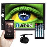 Multimídia Mp5 Vídeo Player Automotivo 2 Din Tela 7.0 Exbom Som Fm Usb Sd Aux Bluetooth Câmera de Ré - Conforme estoque disponível