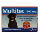 Multitec 1200 mg vermífugo em comprimidos para cães - Syntec