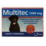 Multitec 1200mg Vermífugo Cães c/ 15kg 4 comp. - Syntec