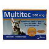 Multitec 800mg Vermífugo Cães c/ 10kg 4 comp. - Syntec
