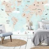 Mural Mapa Mundi Infantil - Tacolado.