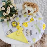 Naninha com Porta Chupeta - Leão Safari Amarelo - Laura baby