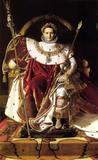 Napoleão em seu Trono Imperial - Jean-Auguste Ingres - Tela 30x41 Para Quadro - Santhatela