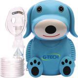 Nebulizador a Ar Comprimido G-Tech NebDog Bivolt Azul