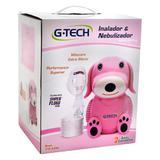 Nebulizador e inalador compressor nebdog rosa g-tech