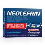 Neolefrin 20 comprimidos neo quimica - Neo química