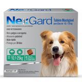 Nex Gard - Antipulgas e Carrapatos - Cães de 10,1 a 25kg com 1 tablete - Merial