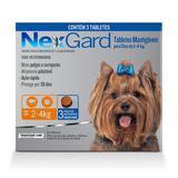 Nex Gard - Antipulgas e Carrapatos - Cães de até 4 kg com 3 tabletes - Merial