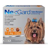 Nex Gard - Antipulgas e Carrapatos para Cães de até 4 kg  com 1 tablete - Merial