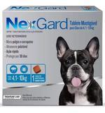 Nexgard caes 4,1kg a 10kg - 01 tablete - Frontline labs
