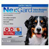 Nexgard Gg 25 A 50kg Com 3 Tabletes Mastigaveis - Merial