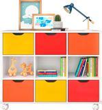 Nicho Organizador com 6 gavetas color e rodízios - Qmovi