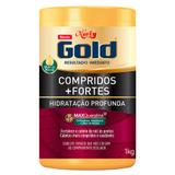Niely Gold Compridos + Fortes - Máscara de Hidratação Profunda