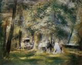 No Bosque de Saint-Cloud - Pierre-Auguste Renoir - Tela 50x62 Para Quadro - Santhatela