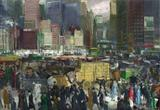 Nova York - George Bellows - Tela 30x43 Para Quadro - Santhatela
