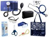 Novo Kit Aparelho De Pressão com Estetoscópio Rappaport Premium Completo - Azul