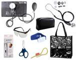Novo Kit Aparelho De Pressão com Estetoscópio Rappaport Premium Completo - Preto