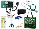 Novo Kit Aparelho De Pressão com Estetoscópio Rappaport Premium Completo - Verde