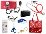 Novo Kit Aparelho De Pressão com Estetoscópio Rappaport Premium Completo - Vermelho