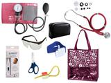 Novo Kit Aparelho De Pressão com Estetoscópio Rappaport Premium Completo - Vinho