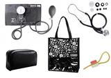 Novo Kit Aparelho de Pressão com Estetoscópio Rappaport Premium Preto + Bolsa JRMED