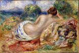 Nu na Paisagem - Pierre-Auguste Renoir - Tela 50x73 Para Quadro - Santhatela