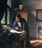 O Geógrafo - Johannes Vermeer - Tela 30x34 Para Quadro - Santhatela