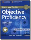 Objective proficiency students book with answers w - Cambridge