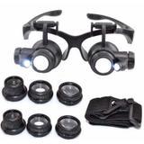 Oculos Lente Aumento Lupa Duplo Aumento Led Precisão - Oskn