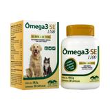Omega 3+SE 1100 30 cápsulas Vetnil Suplemento Cães e Gatos