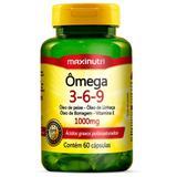 Ômega Triplo 3-6-9 Óleos de Peixe - Maxinutri - 60 Cápsulas