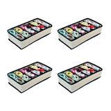 Organizador de Gavetas com 12 Nichos(calcinhas, sutiãs, meias) - 4 unidades - Vb home