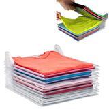 Organizador De Roupas Camiseta Camisa Guardar Dobrado 10 Divisorias - Ab midia