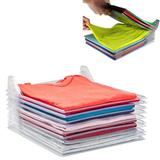 Organizador De Roupas Camiseta Camisa Guardar Dobrado 10 Divisorias - Fabimports