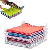 Organizador De Roupas Camiseta Guardar Dobrado Documentos 10 Divisórias - Ideal