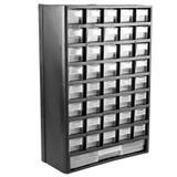 Organizador Multiuso Plástico 12 Pol Com 41 Gavetas Mj2047 - Black jack
