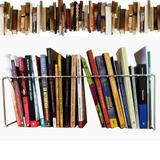 Organizador Separador De Livros Suporte Multiuso Revisteiro Prateleira 44cm 20 Divisórias Cromada - Nacional