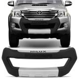 Overbumper Hilux SR SRV 2012 2013 2014 2015 Preto Prata Front Bumper Protetor Frontal - Metalplast