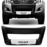 Overbumper Hilux SRV 2012 2013 2014 2015 Preto com Prata Front Bumper - Metalplast