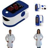 Oxímetro de Pulso Azul + Jaleco (Avental) Branco de Manga Longa - Lojão Da Saúde - Lojao da saúde