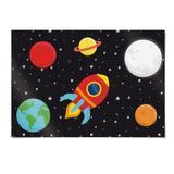 Painel 4 Laminas Astronauta 92X132Cm Decoração Festas - Cromus