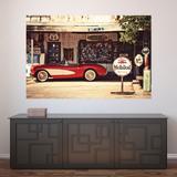 Painel Adesivo de Parede - Posto Vintage - 518pnm - Allodi